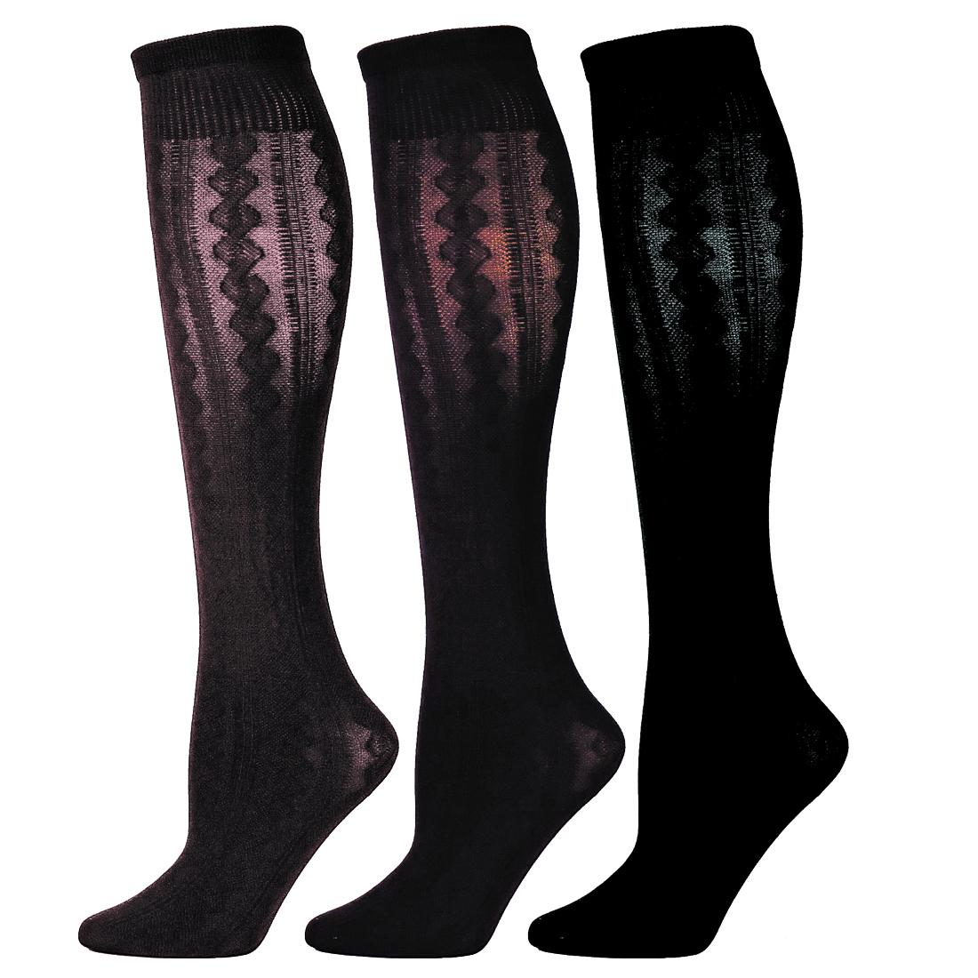 B.ella Tisha Womens Cotton Cable Trouser Sock (Medium - Knee High) | EBay