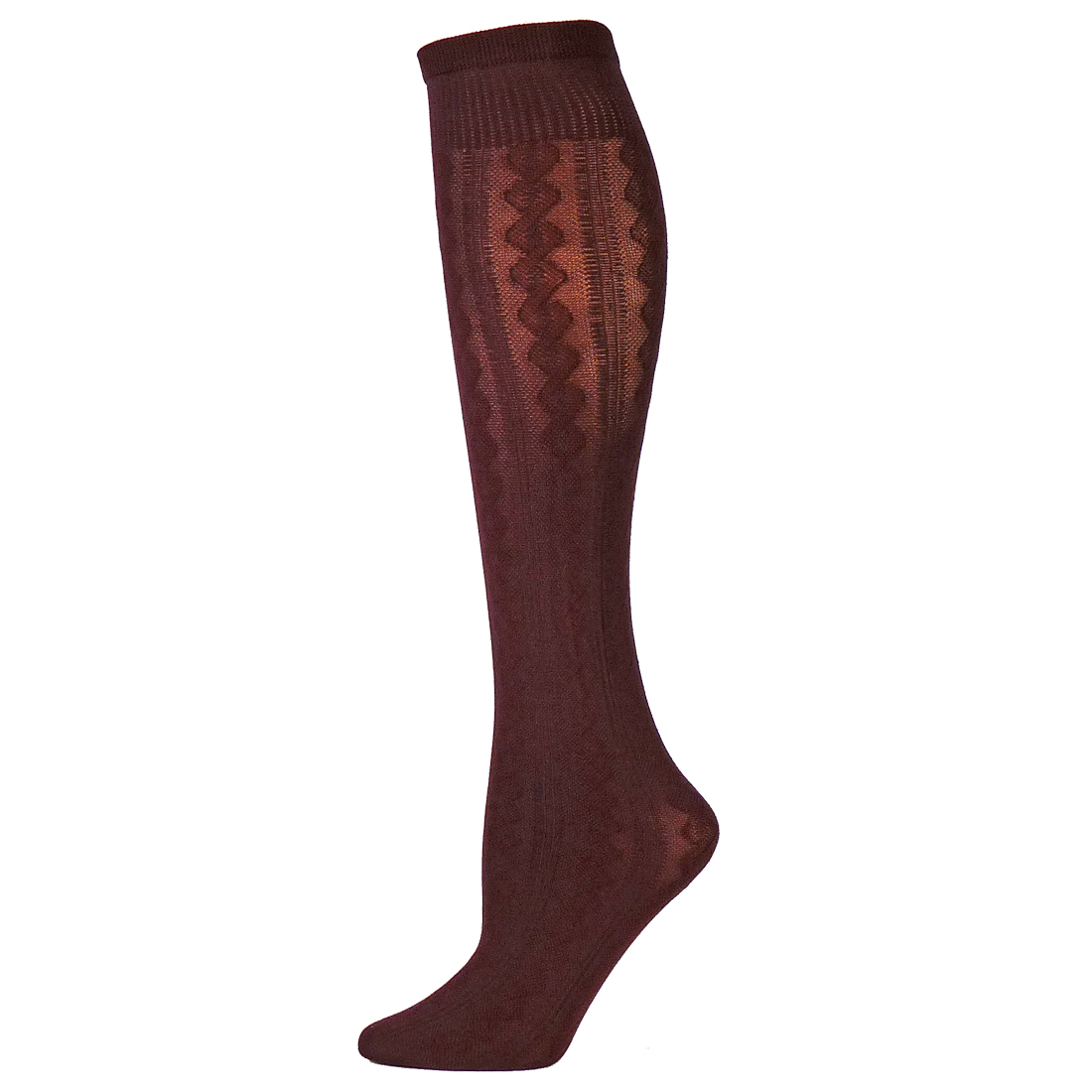 B Ella Tisha Womens Cotton Cable Trouser Sock Medium Knee High | EBay